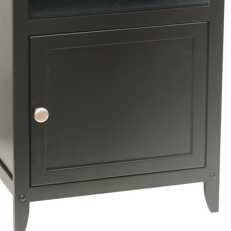 Winsome Solid Wood End Table in Black