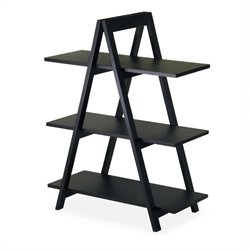 A-Frame 3-Tier Shelf in Black Finish