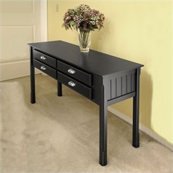 Solid Wood Console/Sofa Table in Black