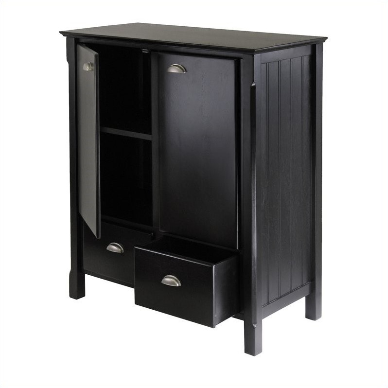 Solid Wood Cabinet in Black