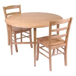 Winsome Hannah 3 Piece Casual Dining Set in Light Oak