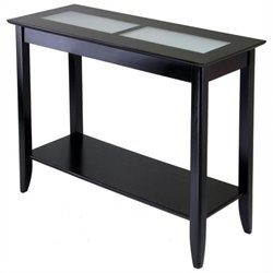 Syrah Solid Wood Console Table in Espresso