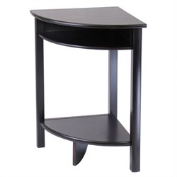 Winsome Liso Corner Table in Espresso
