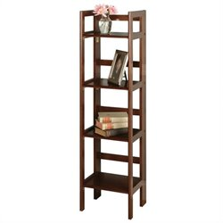 Winsome 4-Tier Folding Shelf in Antique Walnut