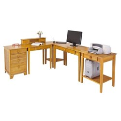 5pc Home Office Set in Honey