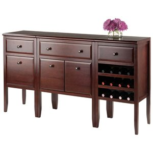 Winsome Orleans 3 Piece Modular Wine Rack Buffet Set
