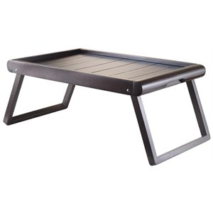 Winsome Elise Wainscoting Top Breakfast Tray in Dark Espresso