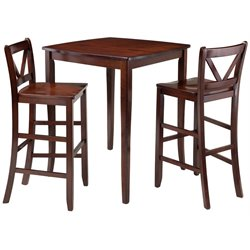 Winsome Inglewood 3 Piece Drop Leaf Pub Set in Walnut