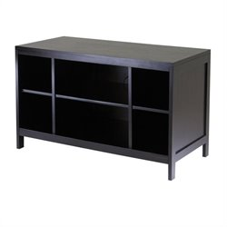 Winsome Hailey Large Modular Espresso TV Stand with Open Shelf