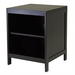 Hailey Small Modular Espresso TV Stand with Open Shelf