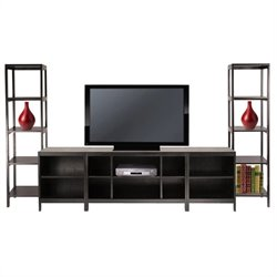 Hailey 5-Piece Entertainment Set in Espresso