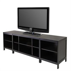 Hailey 3-Piece Modular Media Center in Espresso