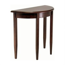 Winsome Concord Half Moon Table in Antique Walnut