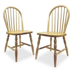 Winsome Windsor  Dining Chair in Natural Finish (Set of 2)