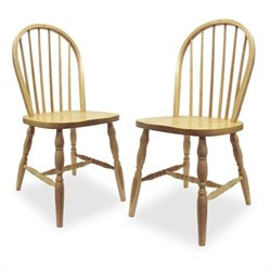 Windsor  Dining Chair in Natural Finish (Set of 2)