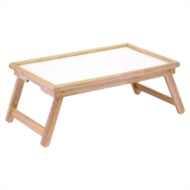 Winsome White Top Breakfast Bed Tray in Natural