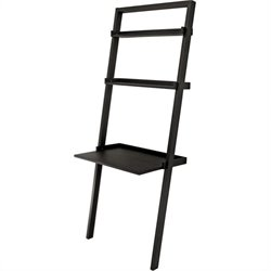 Winsome Bailey Leaning Desk with 2 Shelves in Black