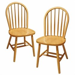 Windsor Dining Chairs in Beech (Set of 2)