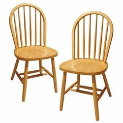 Winsome Windsor Dining Chairs in Beech (Set of 2)