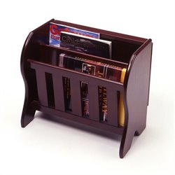 Magazine Rack with Flip Top in Espresso Beechwood