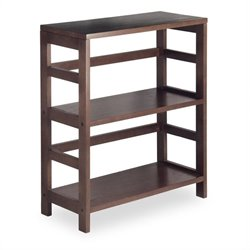 Winsome Leo 2-Section Wide Storage Shelf in Espresso