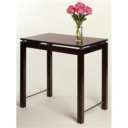 Counter Height Work Dining Table in Espresso Beechwood Finish