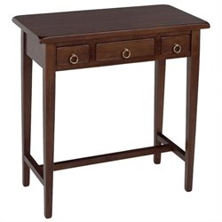 Regalia 3 Drawer Hall Table in Antique Walnut - Solid Wood