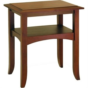 Pine Wood End Table in Walnut
