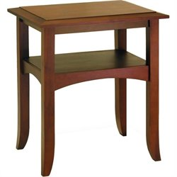 Pine Wood End Table in Antique Walnut
