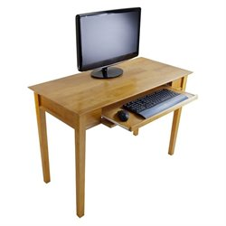 Metro Studio Solid Wood Computer Desk in Honey Pine