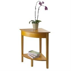 Solid Wood Corner Table in Honey