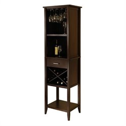 Wine Tower in Cappuccino Finish