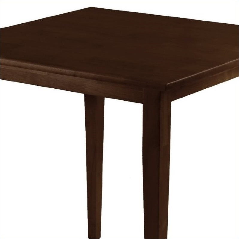 Winsome Wood Groveland Square Dining Table in Antique Walnut