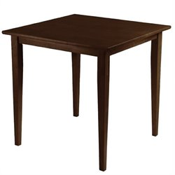 Wood Square Dining Table in Antique Walnut