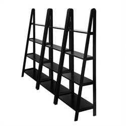 4 Tier Wall Bookcase Unit in Espresso Beechwood