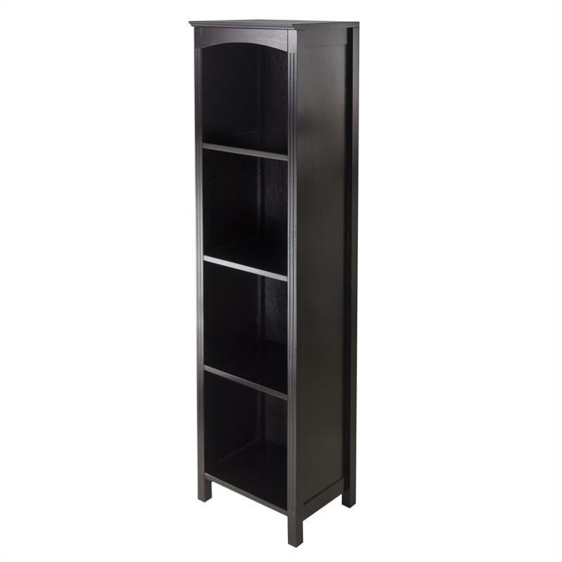 Winsome Terrace Storage Shelf / Bookcase 5-Tier in Espresso