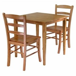 Groveland Square 3 Piece Square Dining Set in Light Oak