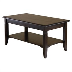 Winsome Nolan Coffee Table in Cappuccino Finish