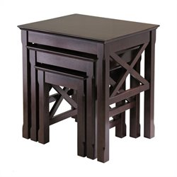 Nesting Table Set in Cappuccino Finish