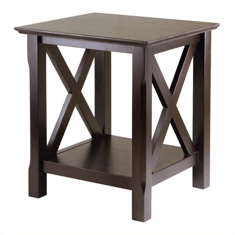 Xola End Table in Cappuccino Finish
