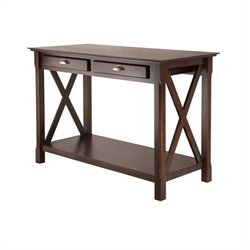Winsome Xola Console Table with 2 Drawers in Cappuccino Finish