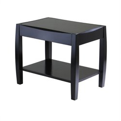 Winsome Cleo End Table in dark Espresso Finish