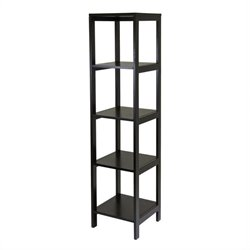 Winsome Hailey 5-Tier Modular Tower Shelf in Dark Espresso Finish