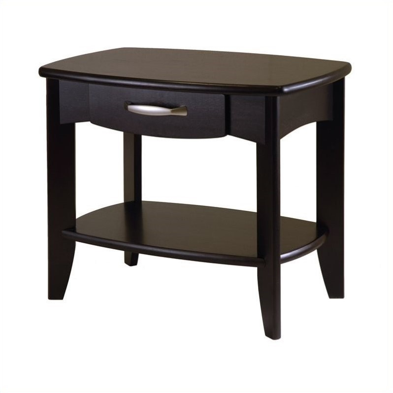 Winsome Danica End Table in Dark Espresso Finish