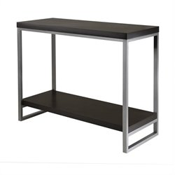 Winsome Jared Console Table Enamel Steel Tube in Dark Espresso Finish