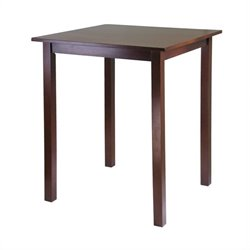 High/Pub Square Table in Antique Walnut Finish
