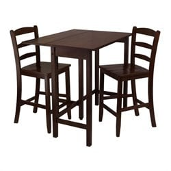 3 Piece Dining Set in Antique Walnut Finish