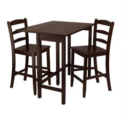 Lynnwood 3 Piece Dining Set in Antique Walnut Finish