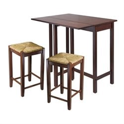 Lynnwood 3 Piece Drop Leaf Dining Set in Antique Walnut
