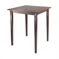 Winsome Kingsgate High Dining Table in Antique Walnut